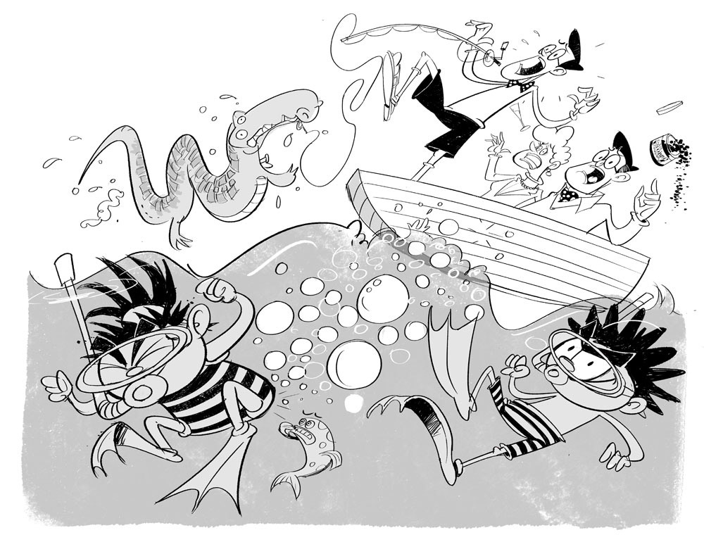 arena-illustration_steve-may_diary-of-dennis-the-menace_bash-street-bandit02
