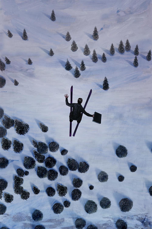 Milk Tray Ski Jump by Pastiche