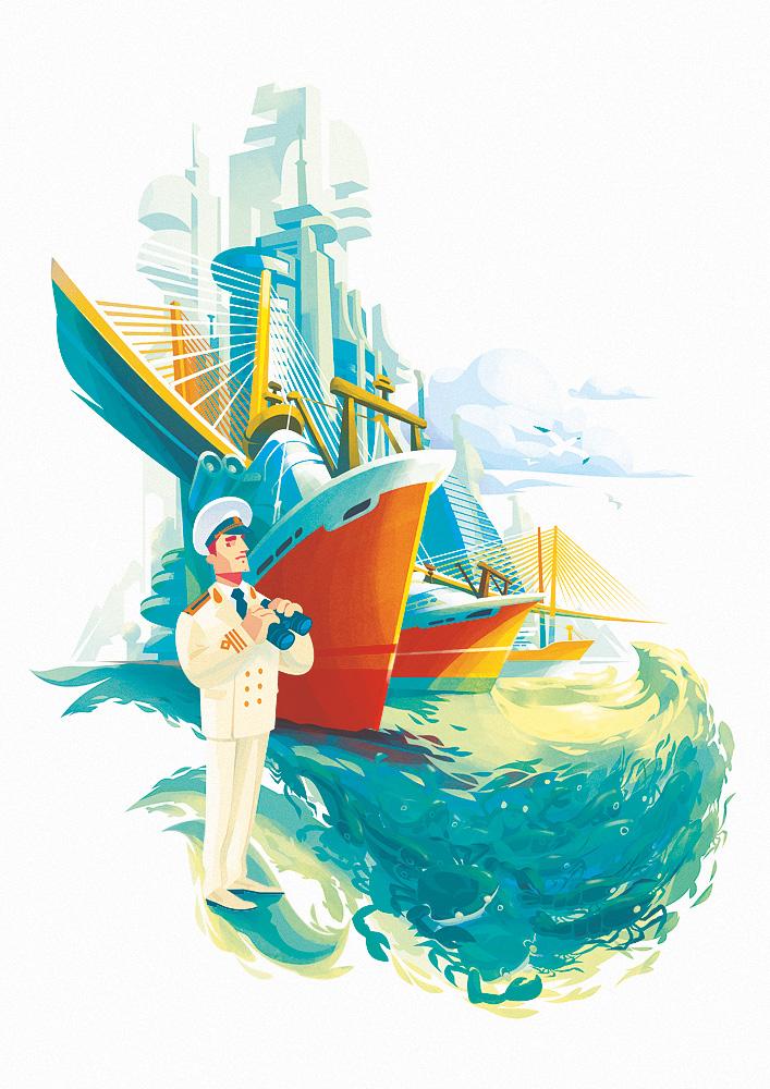 Captain by Alexander Baidin