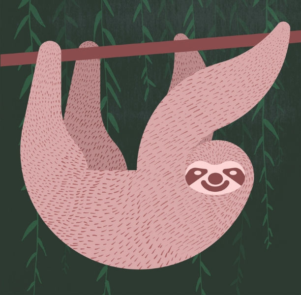 sloth-alan-dalby-illustrator-column-arts-agency