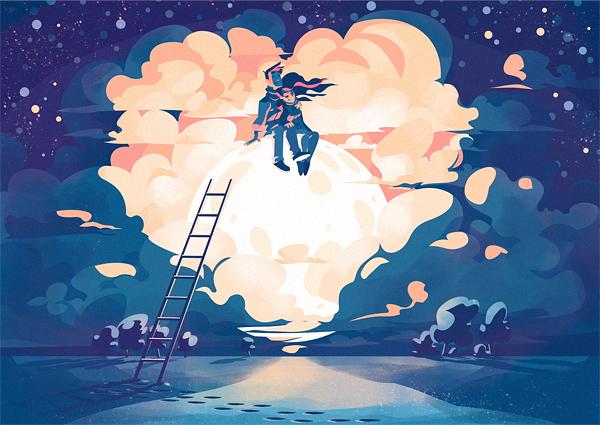 On the Moon by Alexander Baidin