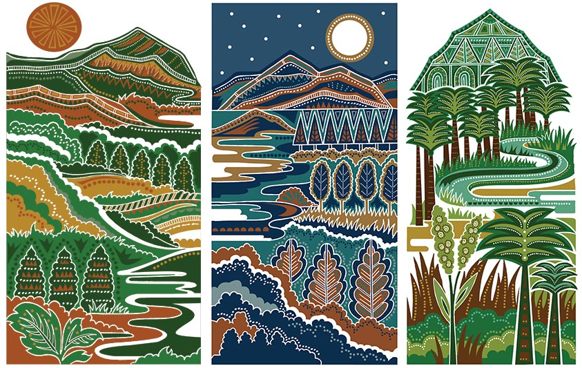 Landscapes by Poonam Mistry (for The Commonwealth Education Trust for A River Of Sories Vol 2)