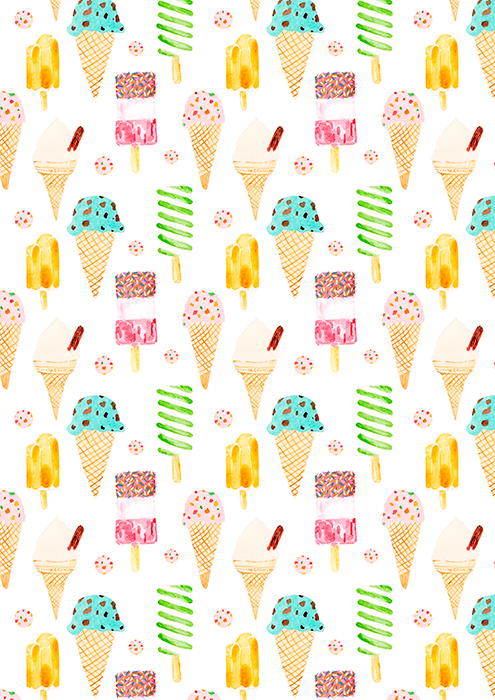 Ice Lolly Pattern by Laura Redburn