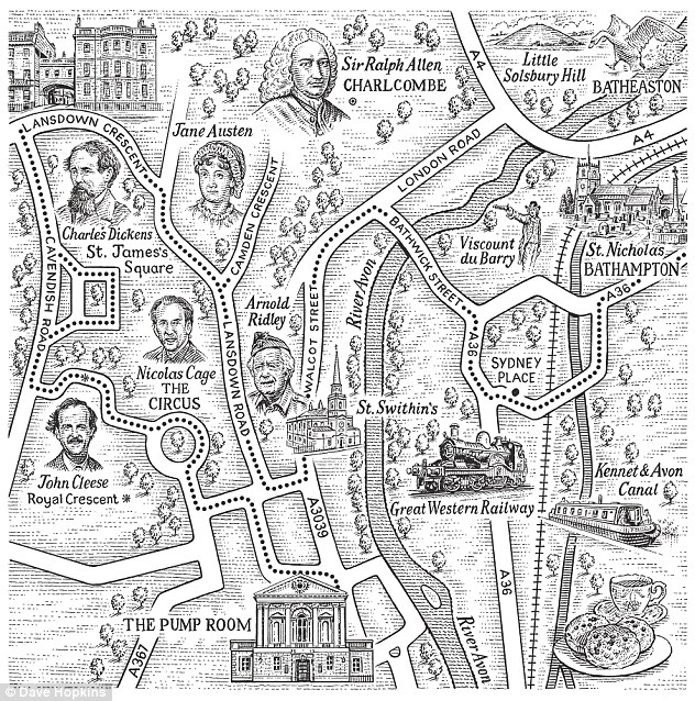 Bath Map by Dave Hopkins
