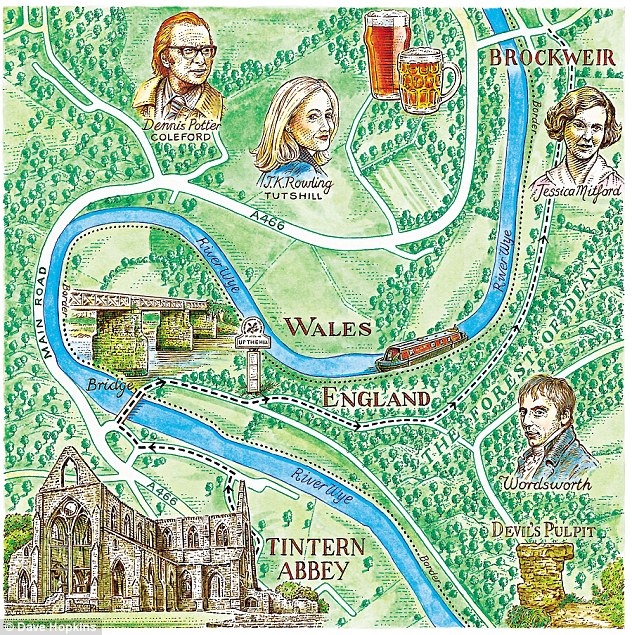 Wye Valley Map by Dave Hopkins